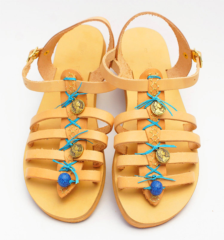 "Ancient Greek Sandals, Strappy sandals, Ankle wrap sandals ""Perissa"""