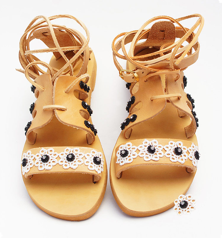 "Gladiator sandals, Ancient Greek sandals, women's lace up sandals ""Caldera"""